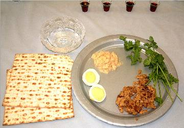 Seder individual place setting